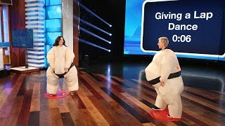 Download Ellen and Demi Lovato Play Su'Move It, Move It! Video
