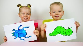 Download Gaby and Alex Learns colors and names of fruits. Educational video compilation for Children Video
