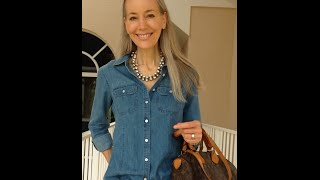 Download Classic Fashion Over 40/Over 50: Talbots Denim Shirt, White Skinny Jeans, Louis Vuitton Speedy Video