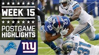 Download Lions vs. Giants | NFL Week 15 Game Highlights Video