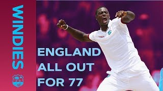 Download Windies Bowl England Out For Record Low 77 | Windies v England | Windies Finest Video