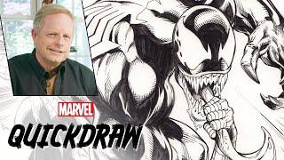 Download Mark Bagley draws Spider-Man & Venom   Marvel Quickdraw Video
