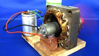 Download New free energy electric dc motor generator 220v AC to 12V DC - DIY Experiments projects at school Video