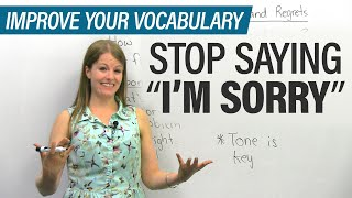 Download Stop saying I'M SORRY: More ways to apologize in English Video