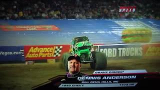 Download Monster Jam BIGGEST AIR EVER by Dennis Anderson in Gravedigger Video