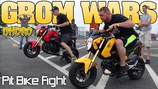 Download GROM WARS parking lot pit bike shootout, St Louis, NHDRO 2016 Video