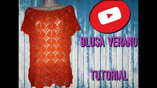 Download BLUSA VERANO TEJIDA A CROCHET PARTE 1 Video