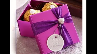 Download Origami candy box. Easy. Great ideas for Gift wrapping. Christmas gift box Video