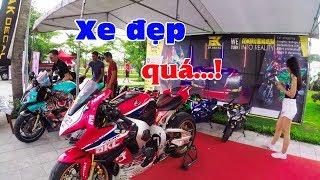 Download Đã mắt ngắm dàn Siêu Xe tại AK decal, Thưởng mô tô và quầy Honda (Nice bike on VN Motor Festival) Video