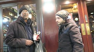 Download TAKING HOMELESS GUY TO EXPENSIVE RESTAURANT Video