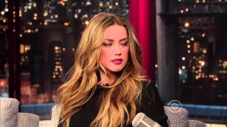Download The full video of the interview with Amber Heard on the set of David Letterman Video