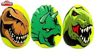 Download 3 Huevos Sorpresas de Dinosaurios en Español de Plastilina Play Doh Video
