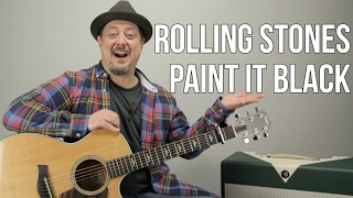 Download How to Play ″Paint it Black″ by The Rolling Stones on Guitar Video