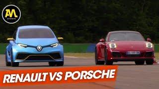 Download Renault Zoé E-Sport Concept VS Porsche 911 Carrera GTS Video