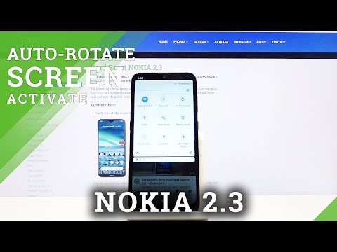How to Enable Auto- Rotation on Nokia 2.3 - Rotate Screen