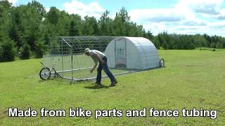 Download 200 Square Foot Portable Poultry Tractor Video
