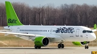 Download First Flight!! AirBaltic CS300 (BCS3) taxiing & departing Mirabel (YMX/CYMX) Video