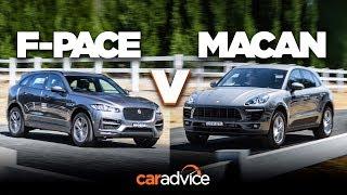 Download Jaguar F-Pace 25t R-Sport v Porsche Macan (4cyl) comparison Video