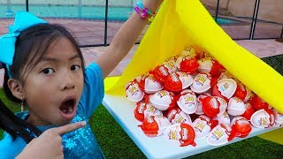 Download Wendy & Liam Pretend Play Learn to Share w/ Kinder Surprise Egg Toys Video