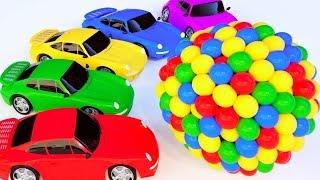 Download Ccouleurs Avec des balles de véhicules de rue Voitures de sport Video