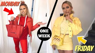 Download I wore ONLY solid COLOUR OUTFITS for a week!! Video