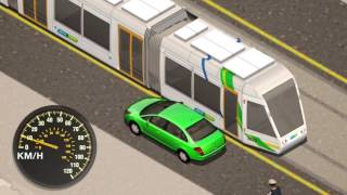 Download Passing or overtaking trams Video