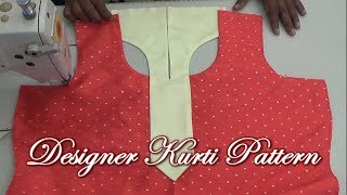 Download Easy Designer Kurti with Collar Step by Step Video