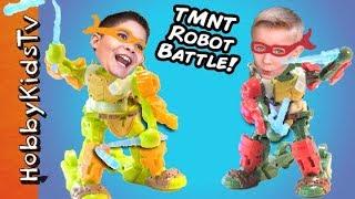 Download Teenage Mutant Ninja Turtles Battleborg Fighting Robots! HobbyKidsTV Video