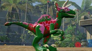 Download LEGO Jurassic World - Velociraptor Unlock Location + Gameplay (Skeleton & Custom Dinosaur) Video