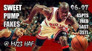 Download Michael Jordan Highlights vs Cavaliers (1996.12.28) - 45pts! Welcome to His Pump Fake Party! Video