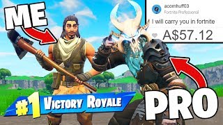 Download I Paid 12 Yr Old 'PRO' To Carry Me In Fortnite! Video