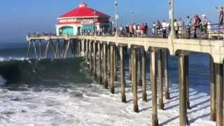 Download Big waves in Huntington Beach 8/27/14 Video