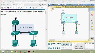 Download 6.3.3.7 Lab - Configuring 802.1Q Trunk-Based Inter-VLAN Routing Video