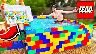 Download PUTTING 500 BATH BOMBS IN A LEGO POOL! Video