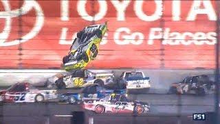 Download NASCAR Trucks Daytona 2017 Final Stage Finish Crafton Flips Big One Video
