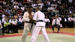 Download IFK World Kyokushin Full Contact Karate Tournament 2005. HW FINAL- Travers (GBR) vs Gateshev (RUS) Video