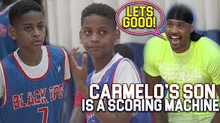 Download Carmelo Anthony IMPRESSED Watching HIS SON!! Kiyan Anthony is a BUCKET! Video