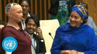 Download UN Deputy Chief Interviews Social Robot Sophia Video