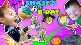 Download CHASE'S 6th BIRTHDAY! Learning 2 ROLLER SKATE on 1st day of FALL! Ouch! FUNnel Vision Vampire Fangs Video