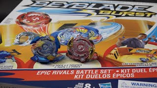 Download Hasbro BEYBLADE BURST Epic Rivals Battle Set Unboxing & Review! Valtryek & Spryzen Video