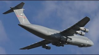 Download The Screaming Giant USAF C5B Galaxy Takeoff at Prestwick Airport Video