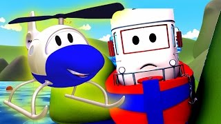 Download The Car Patrol: Fire Truck & Police Car in Stuck Bobby the Boat in Car City | Cartoon for children Video