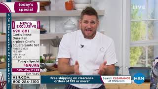 Download Curtis Stone DuraPan 4piece Chef's Square Saute Set Video