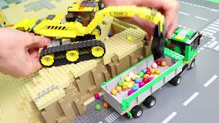 Download Fire Truck, Trains, Excavator, Tractor & Police Cars Lego Construction Toy Vehicles for Kids Video