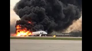 Download Plane in Russia catches fire while emergency landing, 41 killed Video