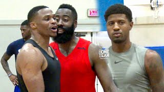 Download Russell Westbrook, James Harden & Paul George Go At It At Rico Hines UCLA Run Video