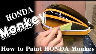 Download How To Paint HONDA Monkey モンキー ZⅡタイガーの塗装方法 Video