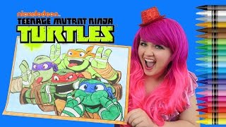 Download Coloring Teenage Mutant Ninja Turtles GIANT Coloring Page Crayons | COLORING WITH KiMMi THE CLOWN Video