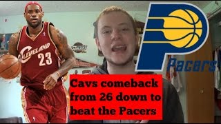 Download Cavaliers 26 point comeback to beat the Pacers 119 - 114, LeBron might be good Video