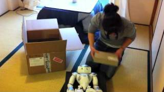 Download The box gives birth to Nao. Video